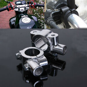 2x-1-034-25mm-10mm-Support-Fixation-Montage-de-Retroviseur-Miroir-Moto-Scooter