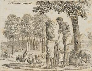 """Chodowiecki (1726-1801). la malayische """"persone-varietà""""; pressione grafico"""