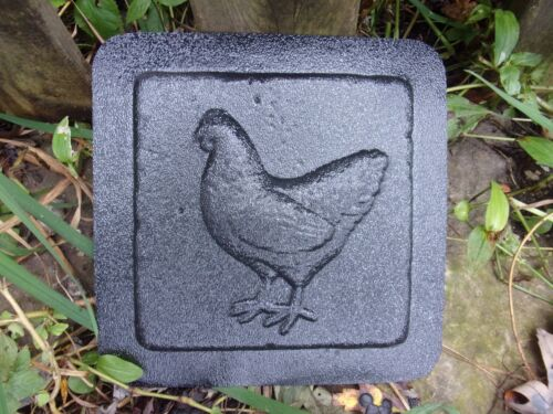 "Plaster cement chicken plastic travertine tile mold 6/"" x 6/"" x 1//3/"""