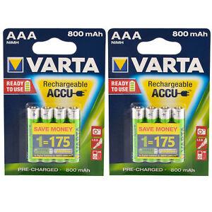 8x-Akku-AAA-Micro-Varta-Rechargeable-Accu-800-mAh-NiMH-Ready2Use-HR03-8-Stueck