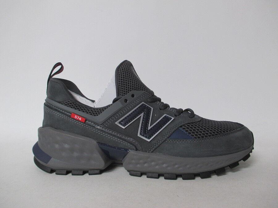 New Balance 574 Dark Grey Charcoal Navy Silver Red Fresh Foam Sz 11 MS574EDN