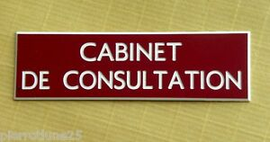 """Bien Informé Plaque Gravée """"cabinet De Consultation"""" Ft 50x150 Mm Acheter Un En Obtenir Un Gratuitement"""