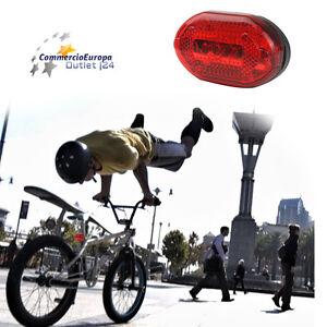 STOP-LED-BICICLETTA-LUCE-LED-FANALINO-POSTERIORE-5-LED-BIKE-BICICLETTA-POSIZIONE