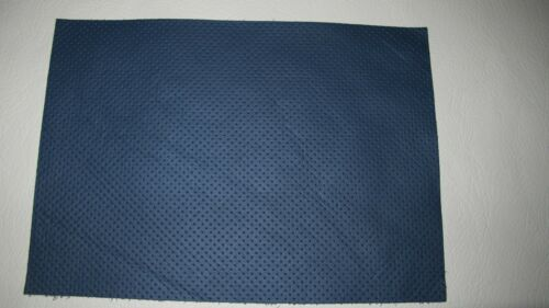 1 Large piece Navy perf  leather crafts  patchwork Bagmaking 86cm x 40cm 1.4mm