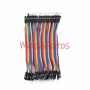 40pcs-10CM-Dupont-Male-To-Male-Jumper-Wire-Ribbon-Cable-for-Breadboard-Arduino