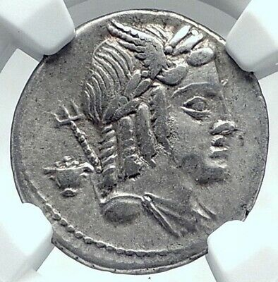 Agressief Roman Republic Apollo Vejovis 85bc Rome Authentic Ancient Silver Coin Ngc I78043