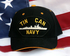 cf81608a3bd TIN CAN NAVY HAT CAP WOWNH DD USS US NAVY DESTROYER VETERAN GIFT PIN ...