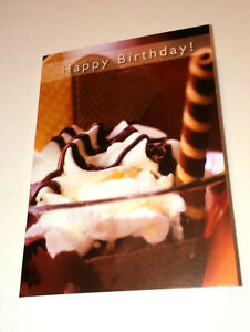 HAPPY BIRTHDAY Mini A7 4x3034 Christian Faith GREETINGS CARD 1Tim 617 CHOC SUNDAE - <span itemprop=availableAtOrFrom>Stafford, Staffordshire, United Kingdom</span> - Returns will only be accepted if item is not as described and it has already been discussed to reach a resolution. Return postage is the responsibility of the purchaser. R - Stafford, Staffordshire, United Kingdom