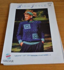 Industrieux Sirdar * Dk * Lady's Sweater Knitting Pattern * 8838-afficher Le Titre D'origine