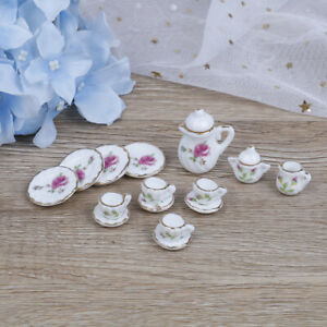15Pcs-1-12-Dollhouse-miniature-tableware-porcelain-ceramic-coffee-tea-cups-EO