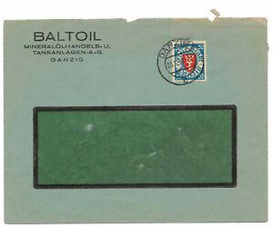 Lettre-1933-Baltoil-Huile-Minerale-Tankanlagen-Danzig-Gdansk-Polska-b7