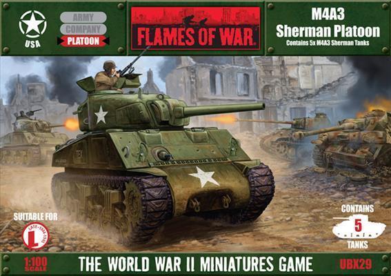 Flames of War United States M4A3 M4A3 M4A3 Sheruomo Platoon by Battledavanti UBX29 9d6d52