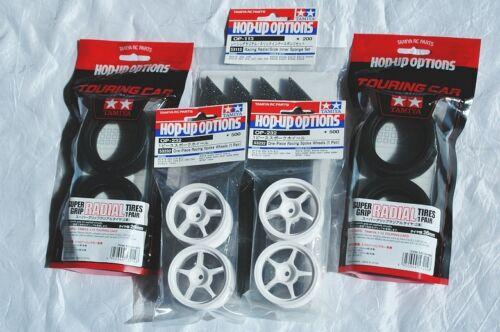 53214 +Inner +Wheel 53113 53232 TAMIYA 1//10 RC CAR Tire SuperGripRadial,+Wh.In.