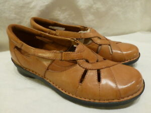 Details about Clarks Bendables Leather Casual Low Loafer Sandals Flats 39337 Womens 9.5M $130