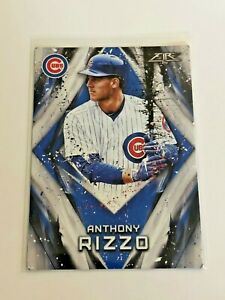 2017-Topps-Fire-Baseball-Base-Card-Anthony-Rizzo-Chicago-Cubs
