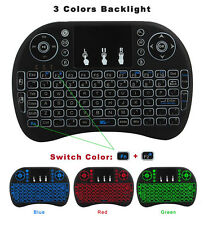 2017 Mini Air Mouse Wireless Back light Keyboard Touchpad Remote for Smart TV PC