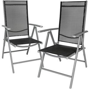 Sedie Da Giardino Alluminio.Set Di 2 Alluminio Sedie Da Giardino Pieghevole Poltrona Campeggio