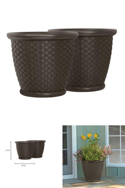 Veradek V-Resin Indoor//Outdoor Taper Planter