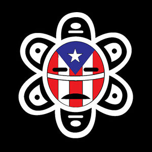 puerto rico car decal sticker taino sun with puerto rican flag 62 ebay. Black Bedroom Furniture Sets. Home Design Ideas