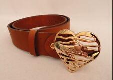 Just Cavalli Gold Heart Herz Ledergürtel Leather Belt Designer Blogger 80cm XS