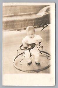 Baby Walker RPPC Antique Cute Toy Photo—Rare SAUK CITY ...