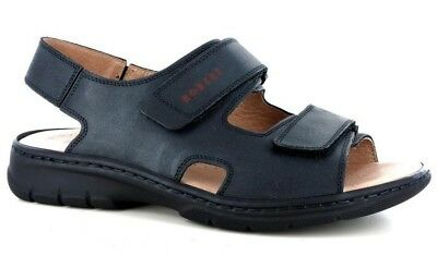 Der GüNstigste Preis Robert 03310 Schwarz Herren Sandalen Tücken Komfort Echtes Leder Made In Italy Sandalen