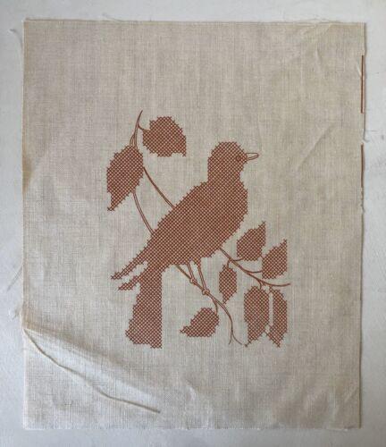 "Vintage Jane Snead Samplers Cross-Stitch Sampler Design Linen ""Bird On Branch"""