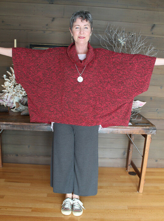 KLEEN Cuddly COWL PONCHO like TUNIC TOP BOHO RESORT SOFICERAT CASUAL 8X PLUS