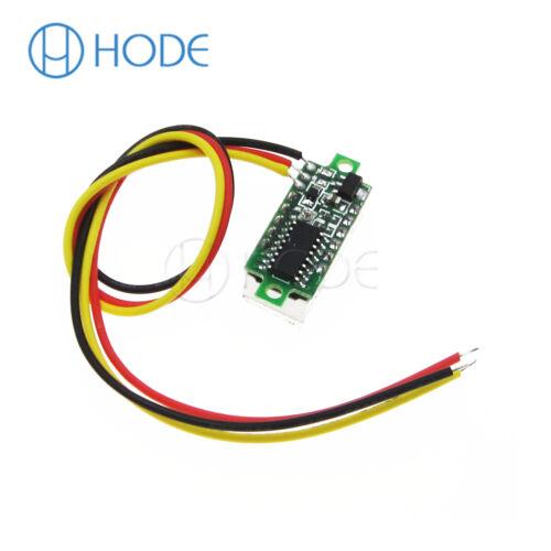 Mini DC 0-100 V Led Rojo 3-Pantalla Digital Voltaje Voltímetro Panel Motor
