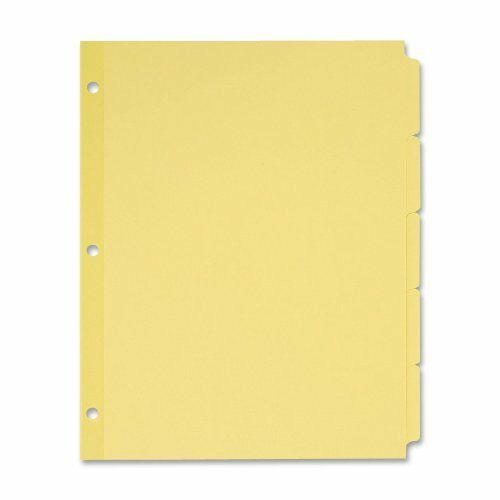 Avery Recycled Write-on Tab Dividers - Write-on - 5 Tab[s] set - 8.50  X 11  -