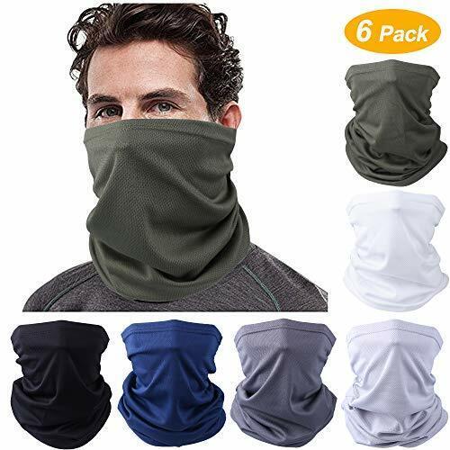 Face Mask Bandanas 6 Pack Multifunctional Sun UV Protection Neck Gaiter Face M