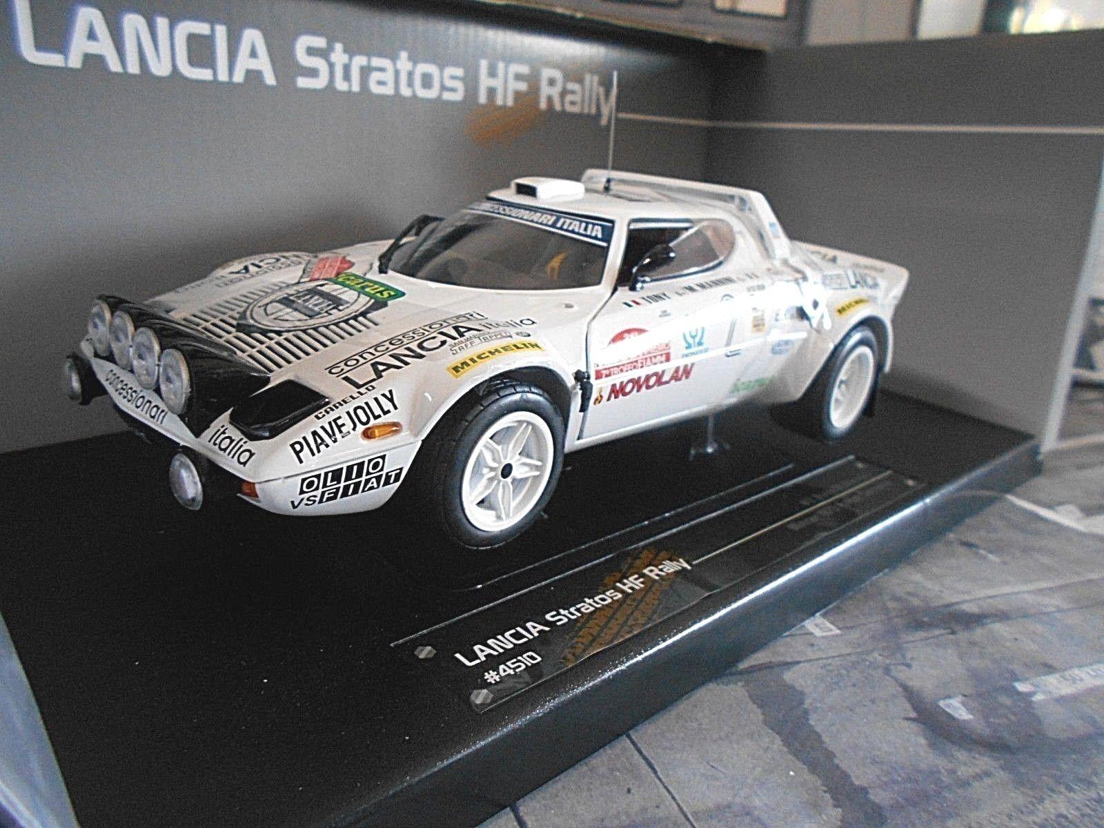 Lancia Stratos HF Rallye San Remo 1979  2 Tony Winner Olio Fiat Sunstar 1 18