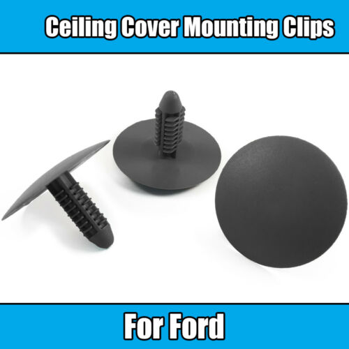 10x Clips For Ford Ceiling Roof Cover Mounting Retainer Clips Grey Plastic