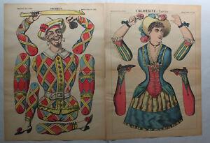Pellerin-escritor-lithografien-6-ausschneidebogen-para-figuras-de-destino-para-1910-SF