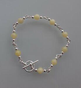 Lemon Jasper Silver Plated Bracelet. Chakra Crystal Reiki Gemstone Healing