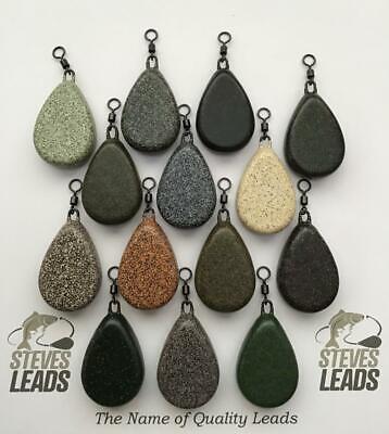 10x Fishing Flat  Pear Leads 1.5//2//2.5 //3 //3.5 //4//4.5oz TEXTURED CLAY CAMO