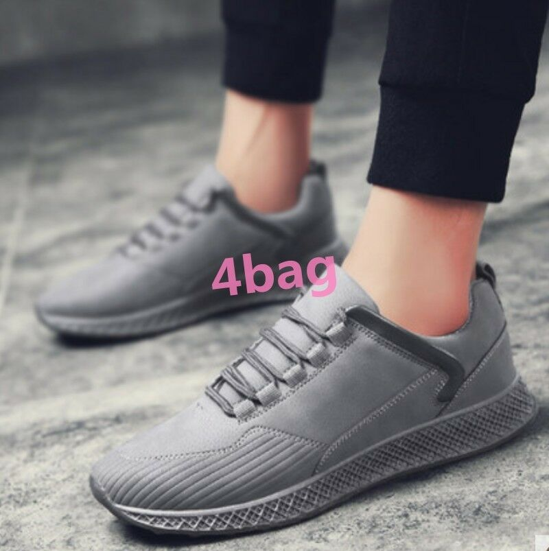 Mens Running shoes Trainers Fashion Lace Up Boys Sport Casual Comfort Deck shoes