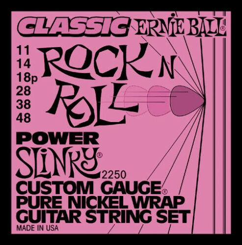 Ernie Ball 2250 Pure Nickel Wrap Power Slinky Electric Guitar Strings 11-48
