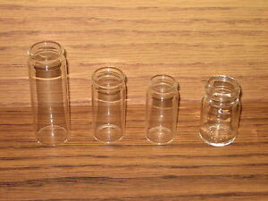 Glass-Bottle-Guitar-Slides-4-Clear-Slide-Sample-Coricidin-Coricedin-New