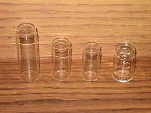 Glass-Bottle-Guitar-Slides-4-Clear-Slide-Sample-Coricidin-Coricedin-New