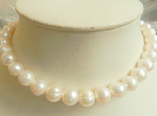 """Beautiful Natural 10-11MM White Akoya Pearl Necklace 18/"""""""
