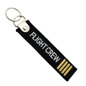 Flight-Crew-Keychain-Embroidery-Luggage-Tag-Motorcycle-Key-Chain-Ring-GIFT