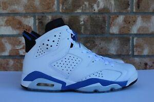 70fc1417204e Men s Nike Air Jordan 6 VI Retro Sport Blue White Black 2014 Size 8 ...