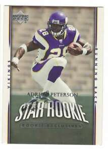 ADRIAN PETERSON RC 2007 Upper Deck Rookies Exclusives #279  ID:16943