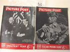 PICTURE POST Mag x2 1943/46,WORLD WAR 2, EISENHOWER GERMAN SURRENDER Cover