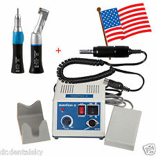 Dental Lab Marathon Micro Motor Electric+Straight Handpiece +Contra Angle US XNS
