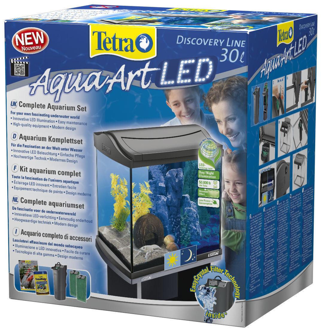 Tetra AquaArt LED Acquario-Set 30 Litri Antracite