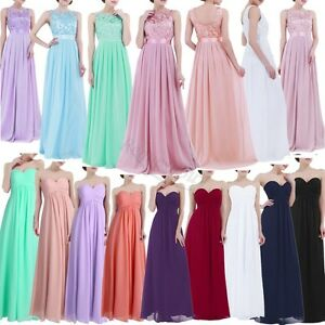 Ladies-Long-Formal-Prom-Maxi-Dress-Evening-Ball-Gown-Bridesmaid-Party-Size-4-16