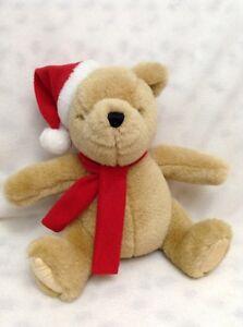 GUND CLASSIC WINNIE the POOH PLUSH in SANTA HAT Christmas 8