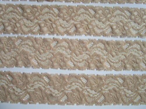 2 metros de punta elástico 5,5cm de ancho cenefa geniales beige elegante n 645